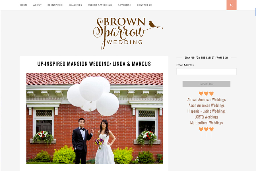 Brown Sparrow Wedding featured wedding of Linda + Marcus