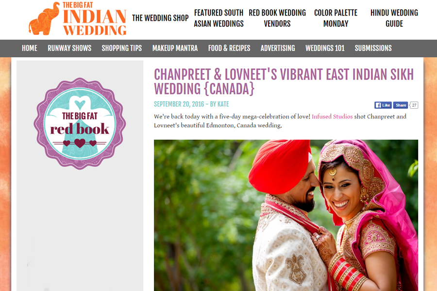 Featured South Asian Wedding on My Big Fat Indian Wedding