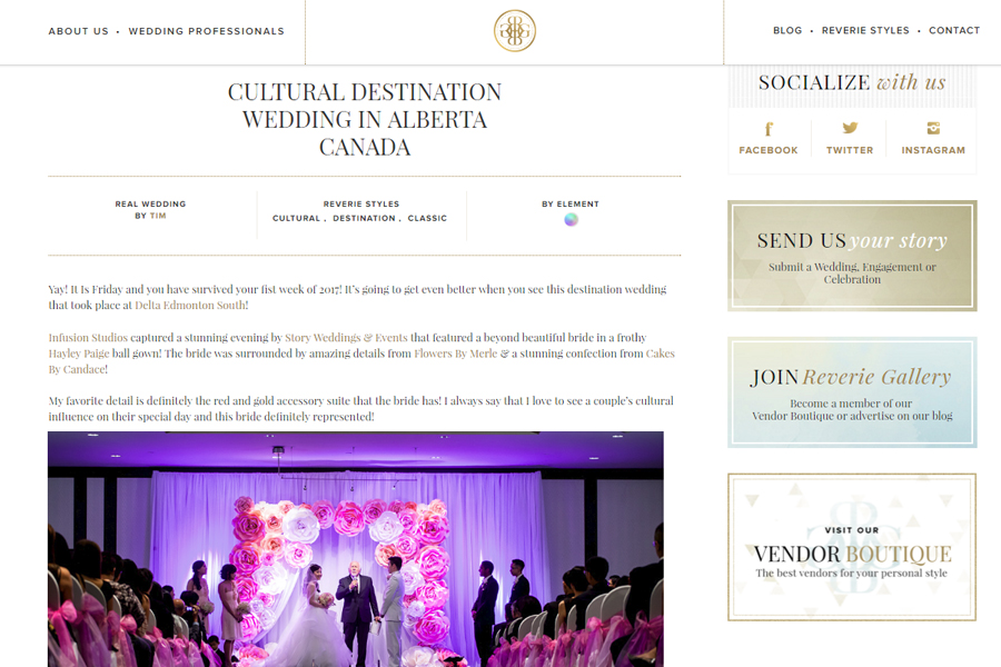 Featured Edmonton Wedding Photography :: Reverie Gallery