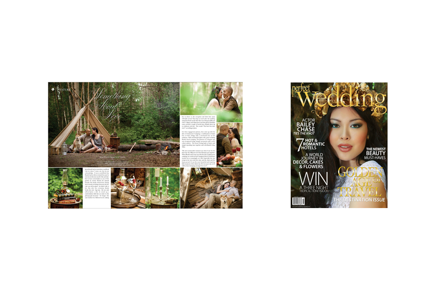 Perfect Wedding Magazine Glamping Engagement Session Feature