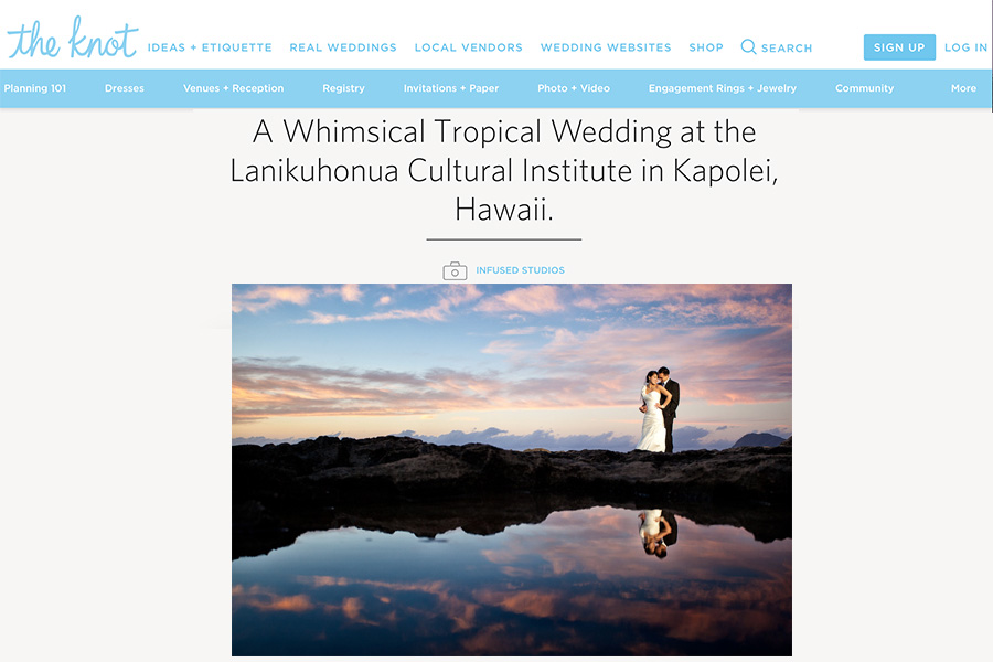 Featured Hawaii wedding on the knot