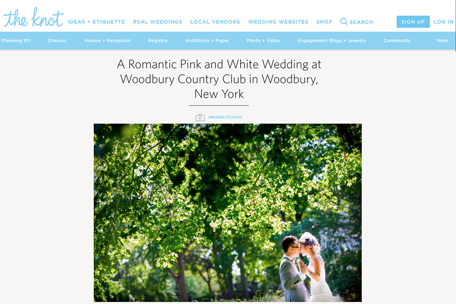 Featured NYC wedding on the Knot