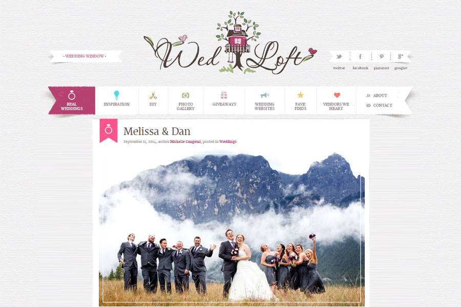 Canmore Destination Wedding featured on WedLoft