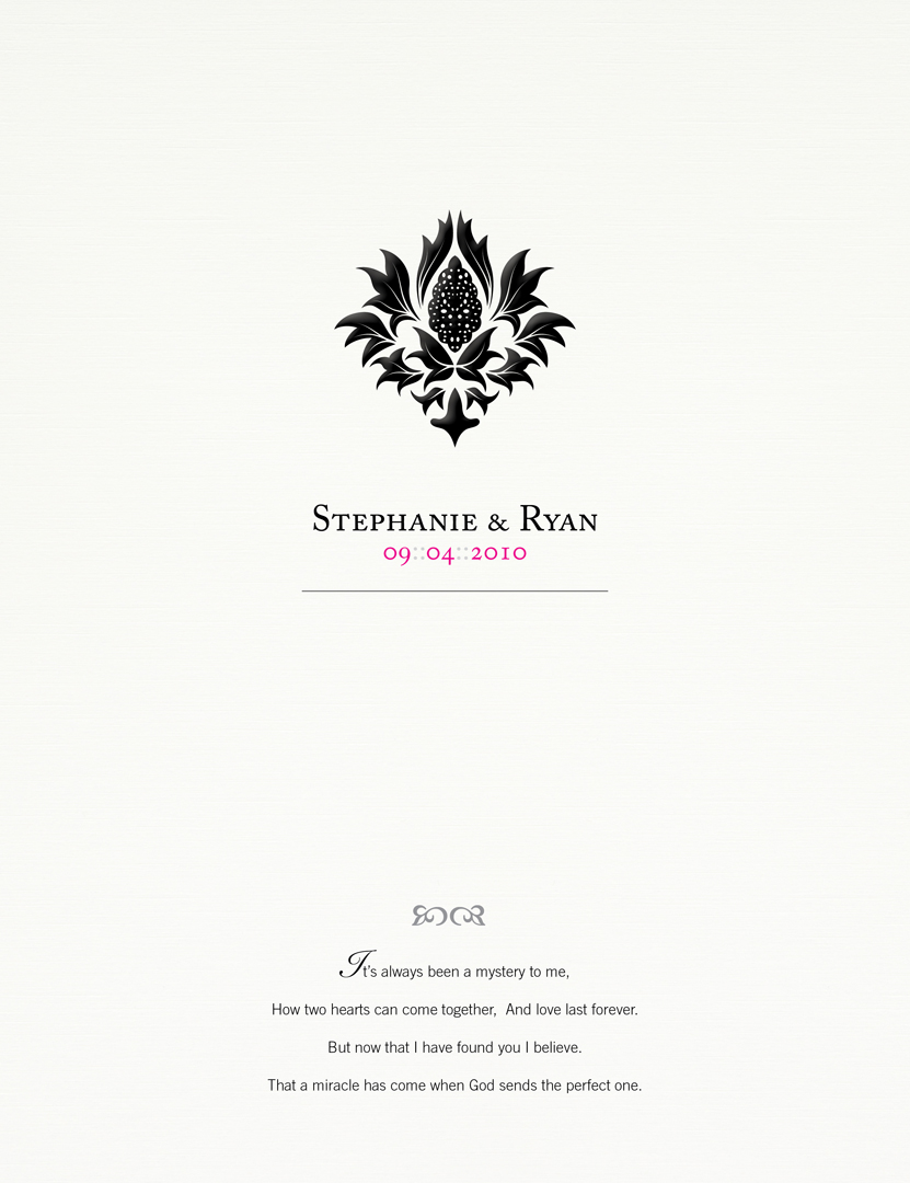 Stephanie + Ryan :: Wedding album cover