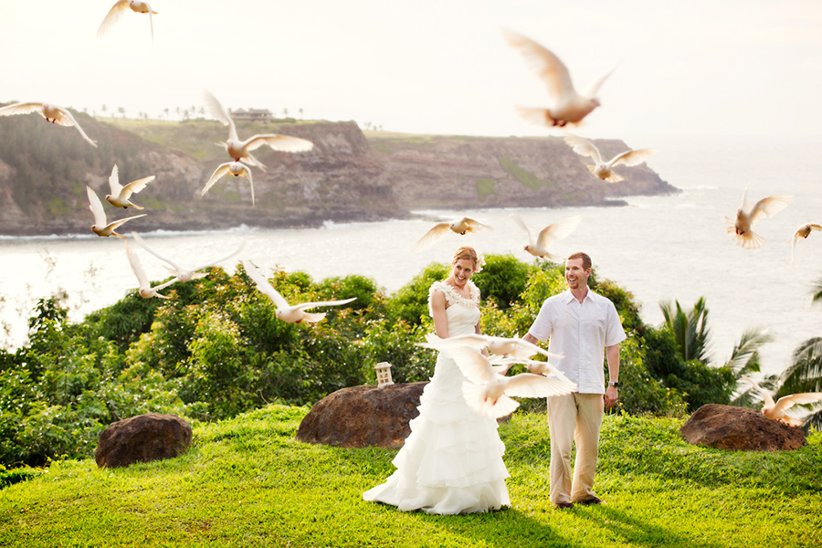 Doves  :: Hawaii Wedding Photography by infusedstudios.ca