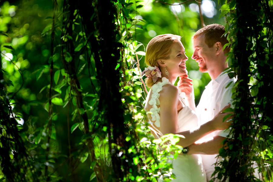 Glimpse between the trees :: Hawaii Wedding Photography by infusedstudios.ca