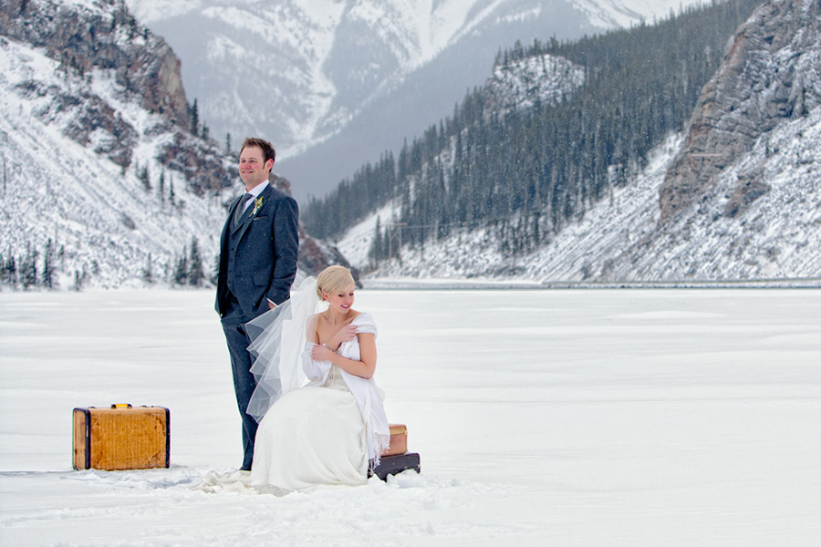 Winter wedding :: Canmore Wedding Photography by infusedstudios.ca