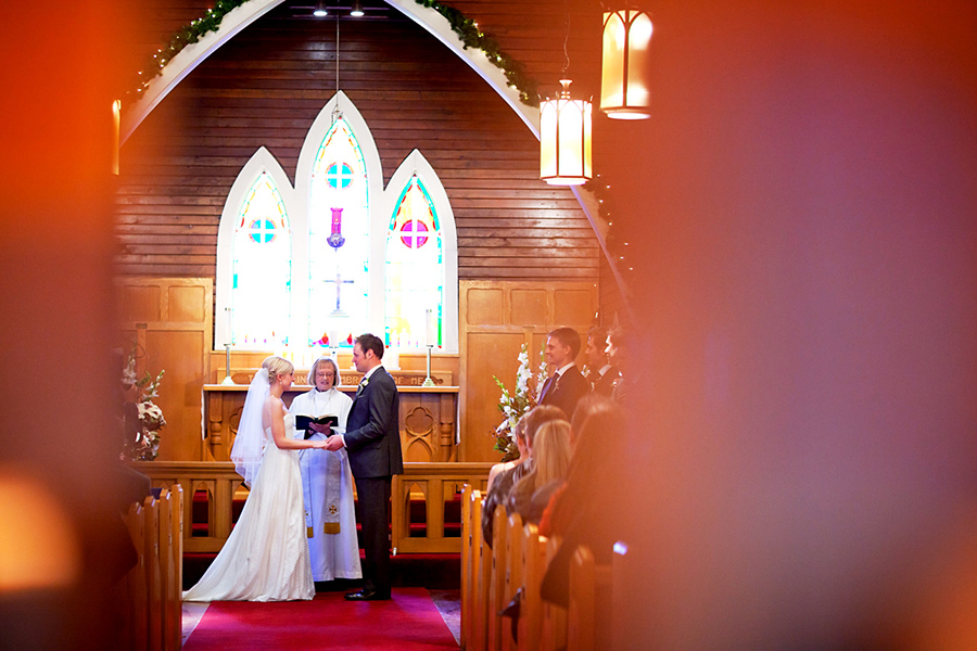 Wooden church :: Canmore Wedding Photography by infusedstudios.ca
