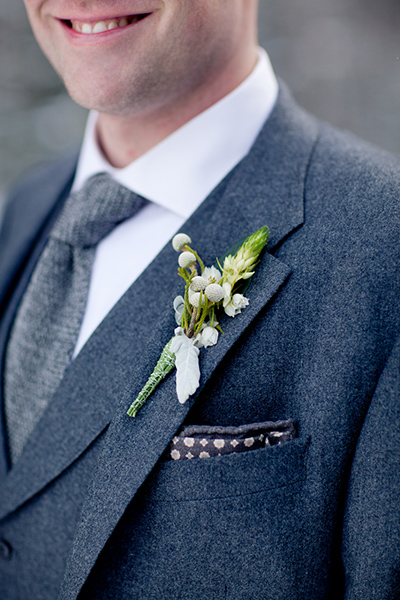 Elegant boutonniere :: Canmore Wedding Photography by infusedstudios.ca