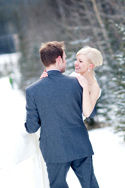 Pick up the bride :: Canmore Wedding Photography by infusedstudios.ca