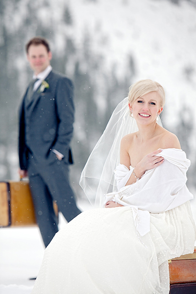 Stylised bridal portrait :: Canmore Wedding Photography by infusedstudios.ca