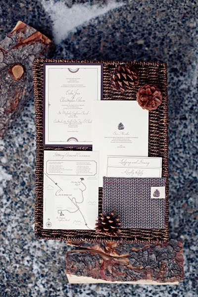 Handmade wedding invites :: Canmore Wedding Photography by infusedstudios.ca