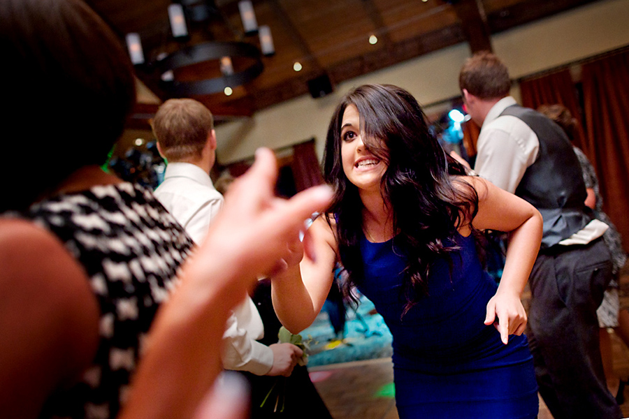 On the dance floor :: Canmore Wedding Photography by infusedstudios.ca