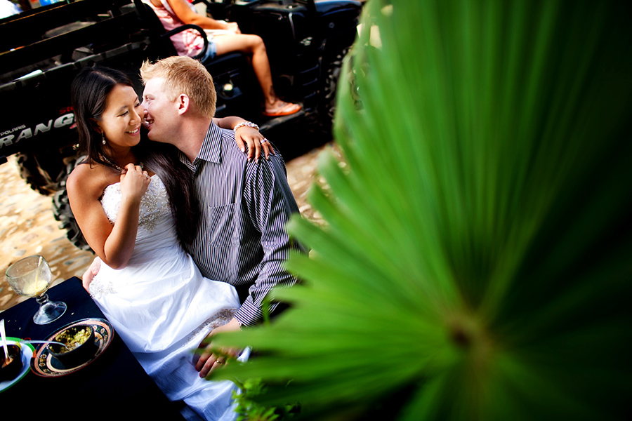 Cuddles over lunch :: Destination Wedding Photography by infusedstudios.ca