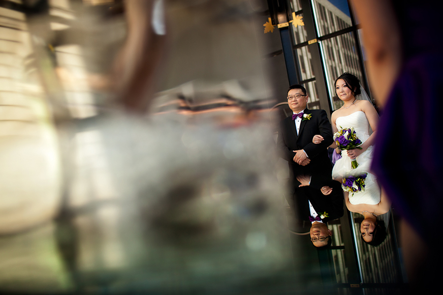Peggy coming down the aisle :: Wedding Photography Calgary