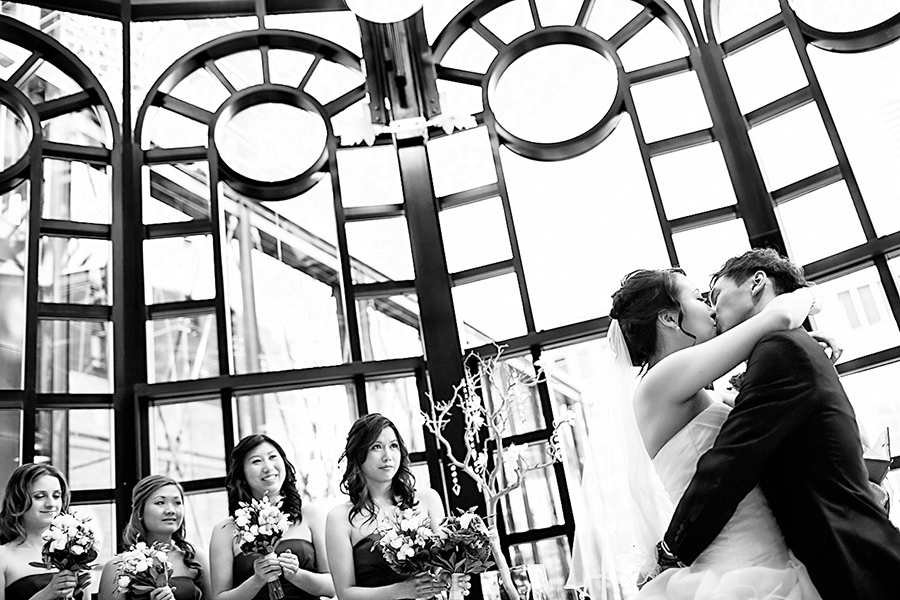 First Kiss :: Wedding Photography Calgary