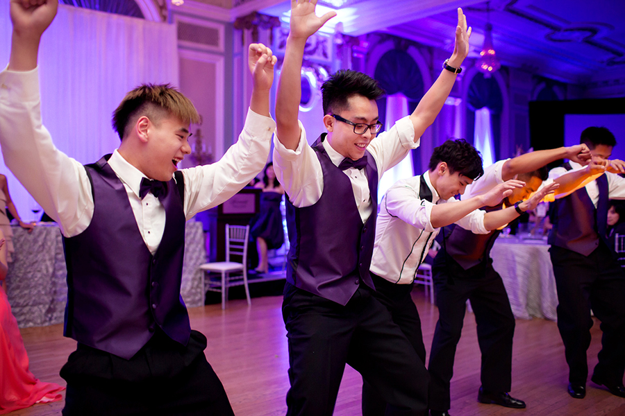 The Groomsmen perform :: Wedding Photography Calgary