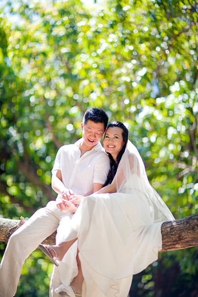 Cuddling up on a tree branch :: Destination Wedding Photography