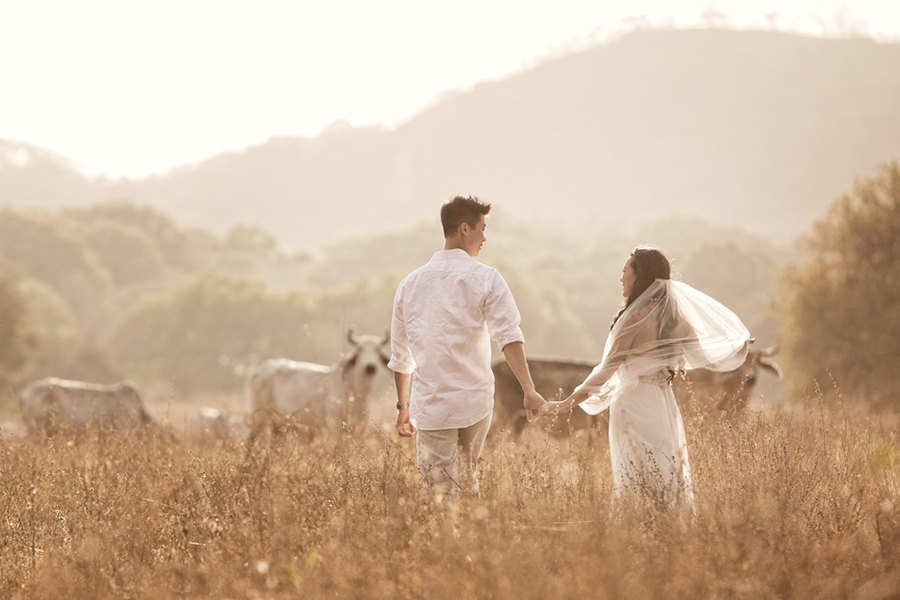 At dusk :: Destination Wedding Photography