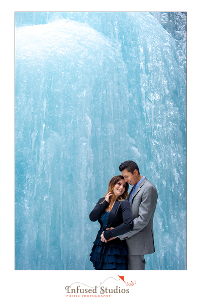 Winter engagement photos :: Jasper Ice Caves