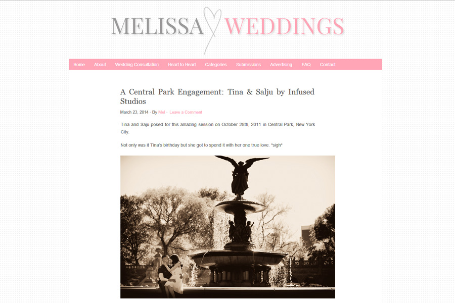 Tina + Salju :: Featured Central Park Engagement on Melissa Hearts Weddings