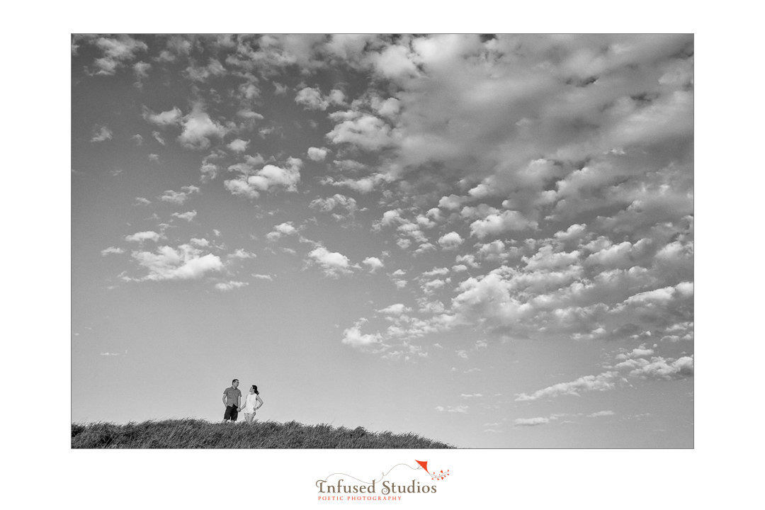 St Albert wedding & engagement photographers :: Rosanna + Chris' engagement sky vista