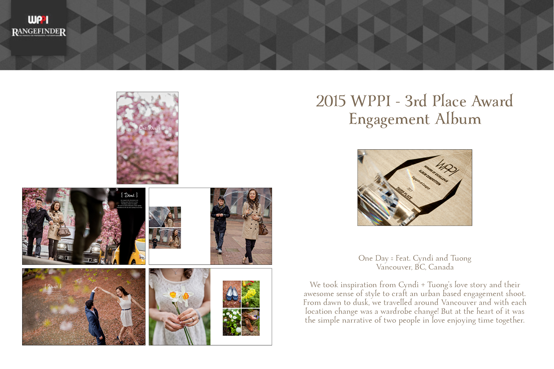 WPPI 3rd Place Album Award 2015