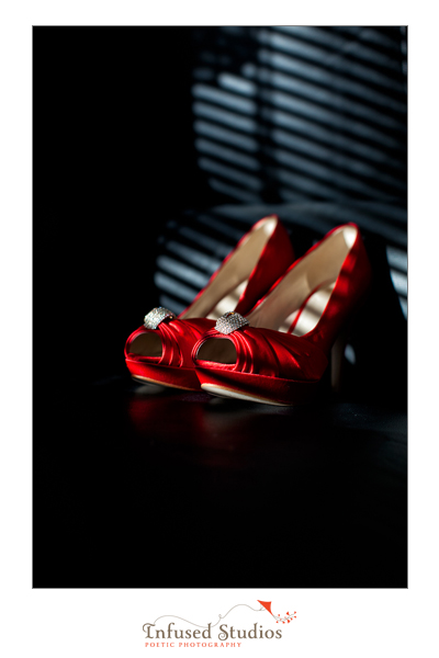 Red Platform wedding shoes