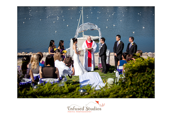 Backyard wedding :: on the docks
