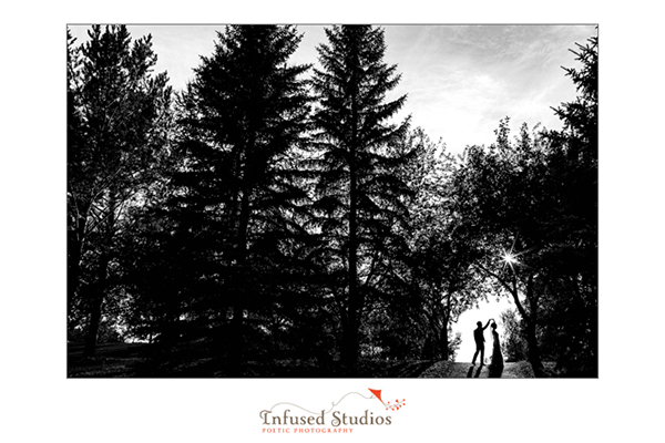 black & white silhouette shot