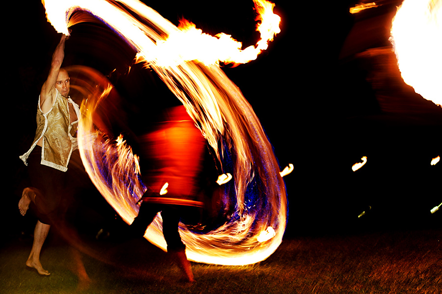 Fire dancers :: Hawaii Wedding Photography by infusedstudios.ca