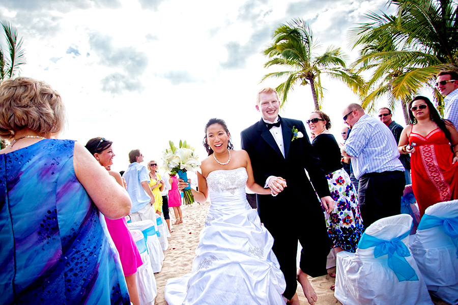Walking down the aisle :: Destination Wedding Photography by infusedstudios.ca
