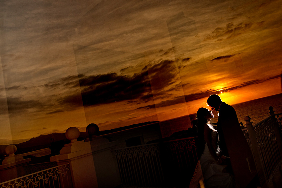 Sunset silhouette :: Destination Wedding Photography by infusedstudios.ca