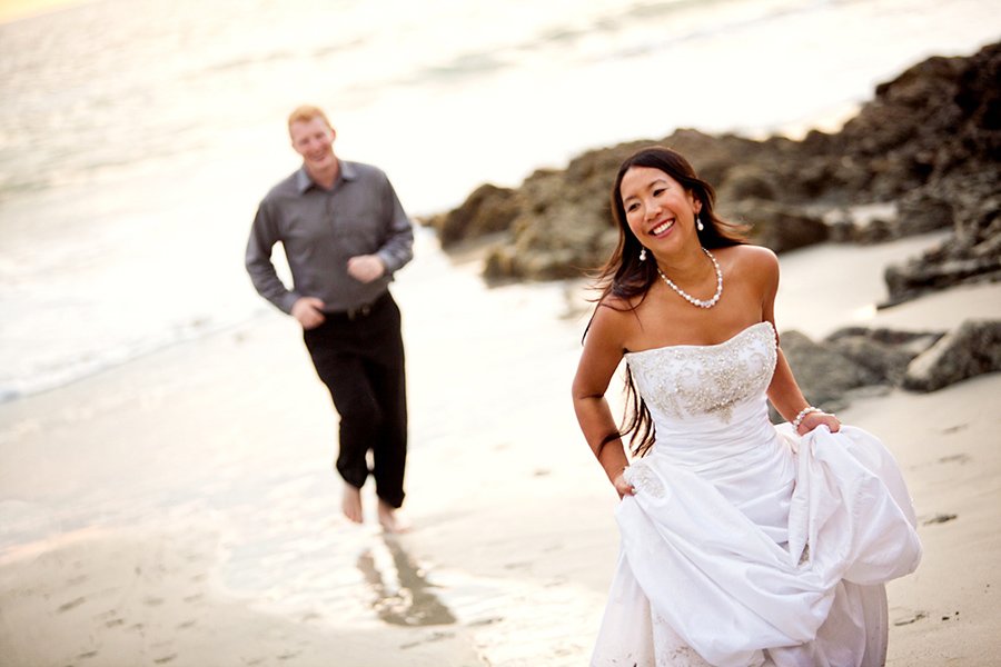 Run on the beach :: Destination Wedding Photography by infusedstudios.ca