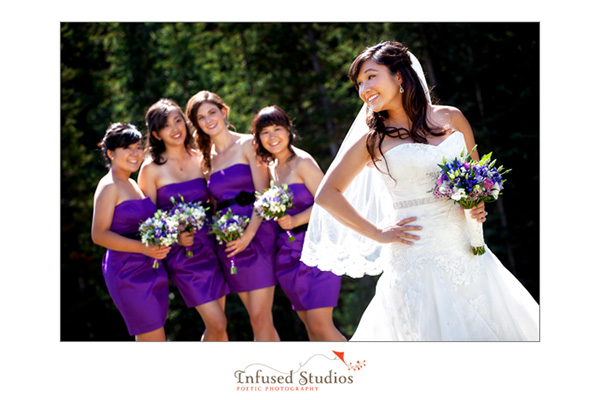 Bridal Party Photos, Lake Louise Wedding Photography
