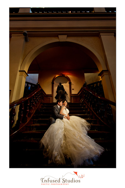Bride and Groom, Staircase, Formals