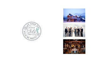 Winter Canmore Wedding on Style Me Pretty