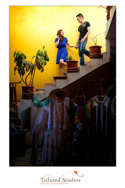 Angel + Chris :: staircase photography