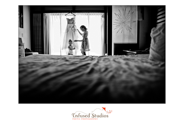 Angel and wedding dress :: black and white photography