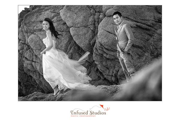 Adventurous bridal photography