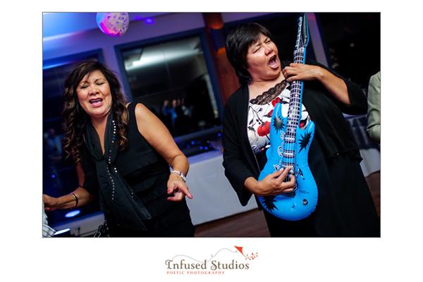 Guitar on the dance floor