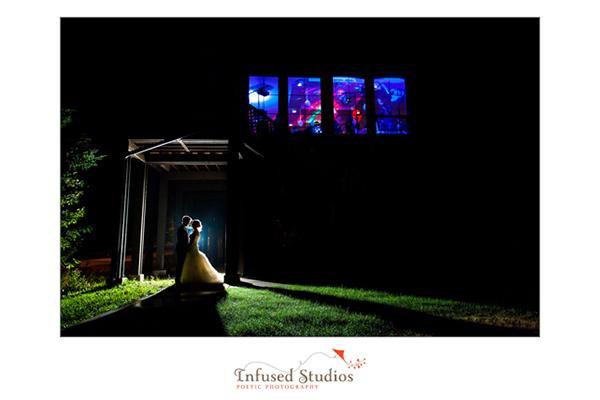 Silhouette wedding photo