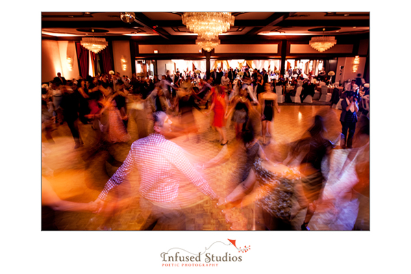Motion blur on dance floor