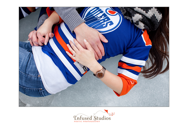 Oilers inspired engagement session