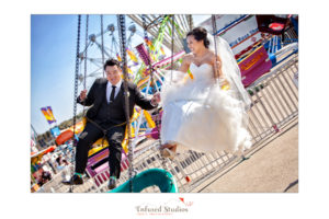 Edmonton Creative Wedding Portraits at a Carnival