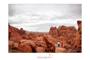 Las Vegas desert engagement photography