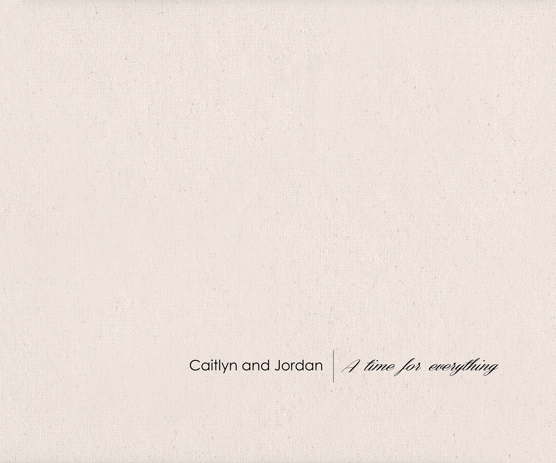 Destination engagement album :: front cover for Caitlyn + Jordan