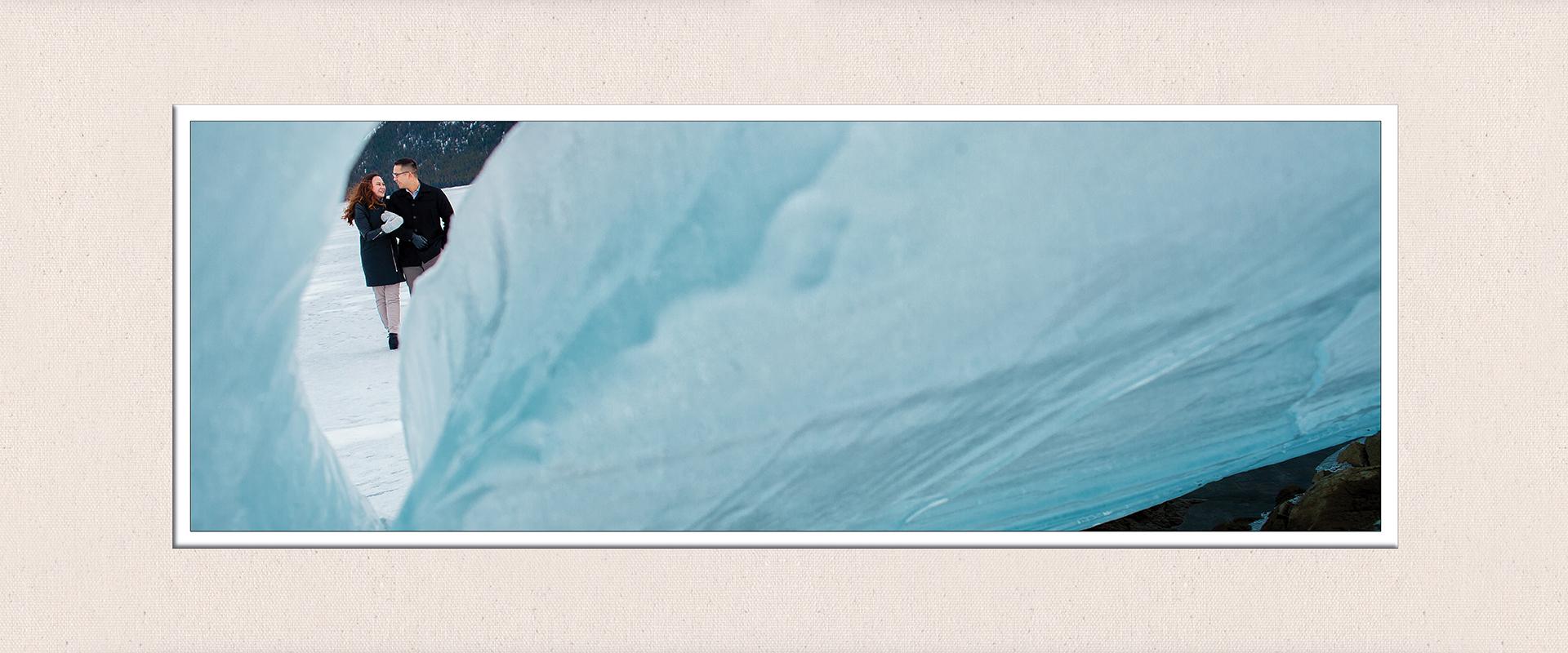 Seasons engagement album, winter :: Caitlyn + Jordan pages 15-16