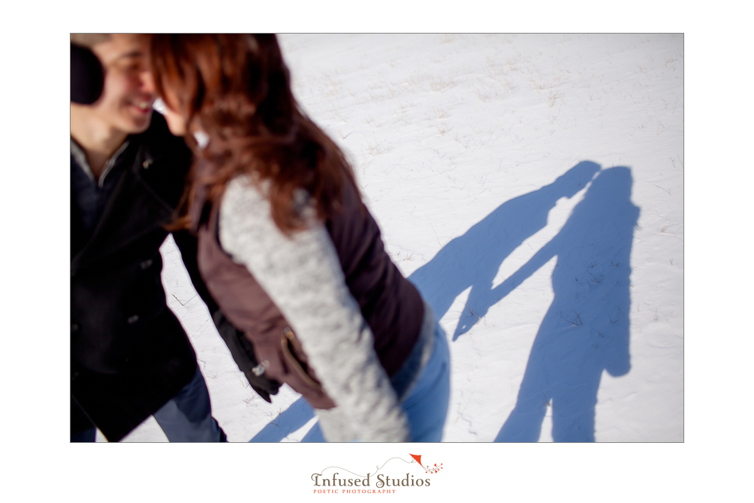 Jasper engagement photography in the snow