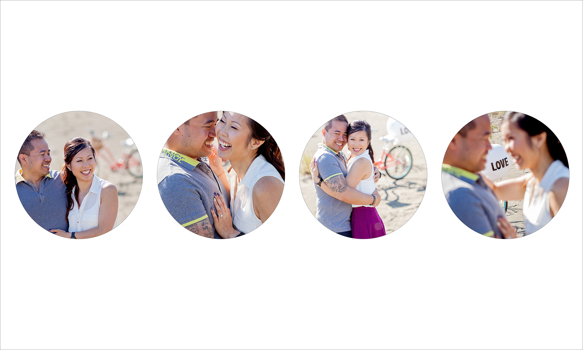 Award winning engagement photography album :: pgs 1-2